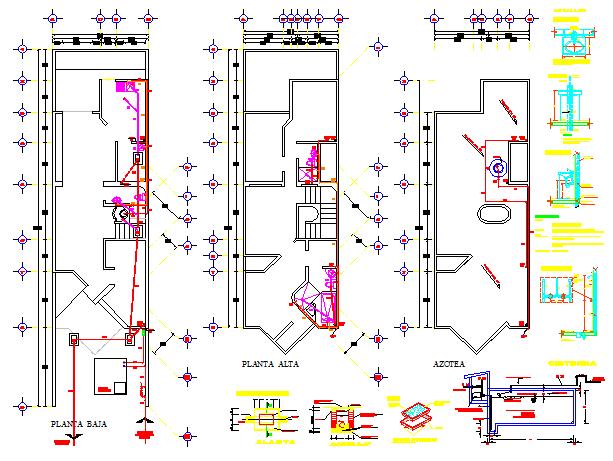 Sanitary detail drawing of house design draing