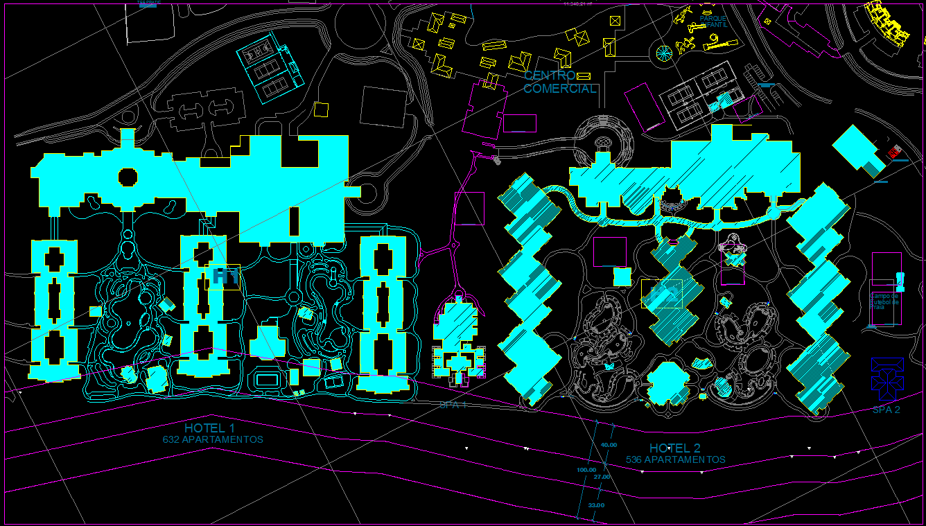 Layout plan of 2 Hotel