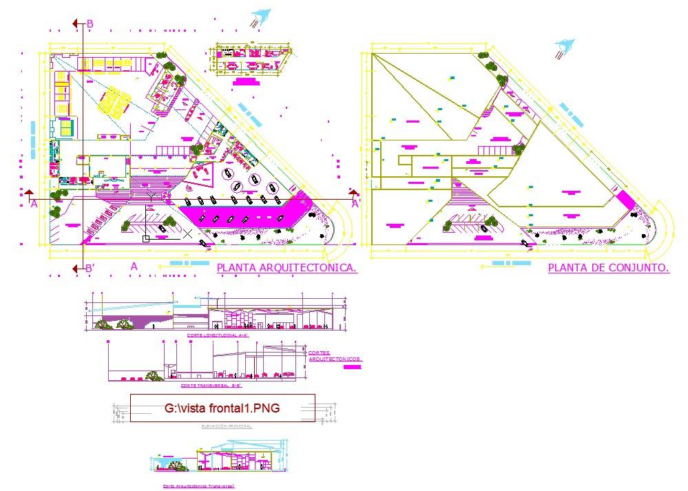 Office building floor plans examples in cad