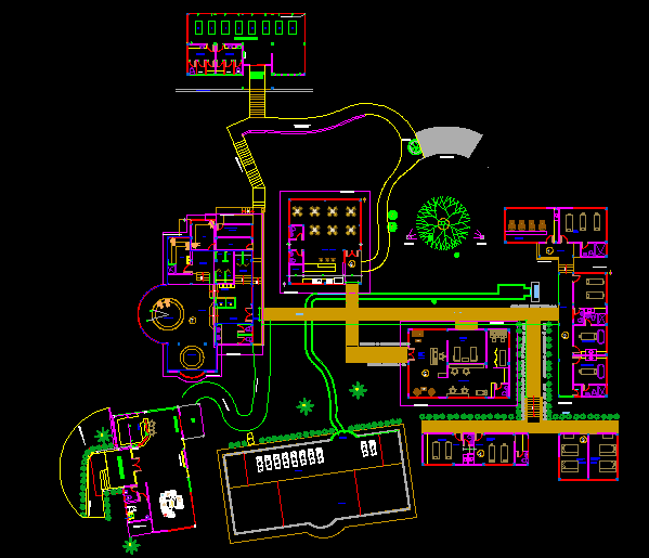 Spa dwg, Spa Plan dwg file