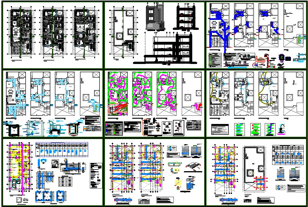 Apartment plan dwg free download
