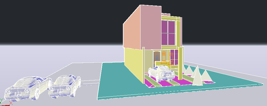 3D drawing of bunglow