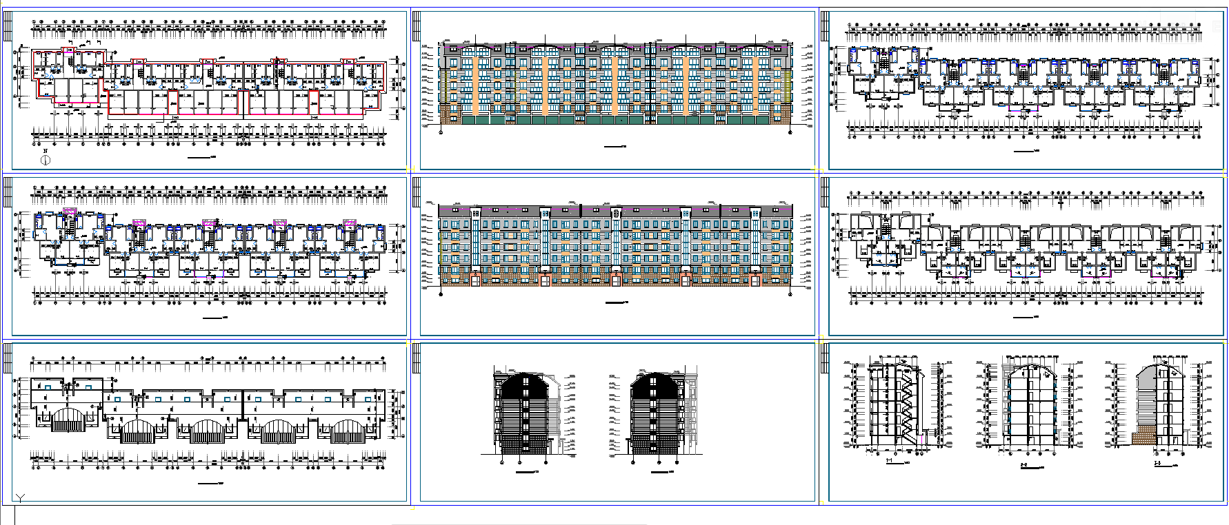 92.5 Sq mtr 2.5 Bhk apartment plan in cad dwg files