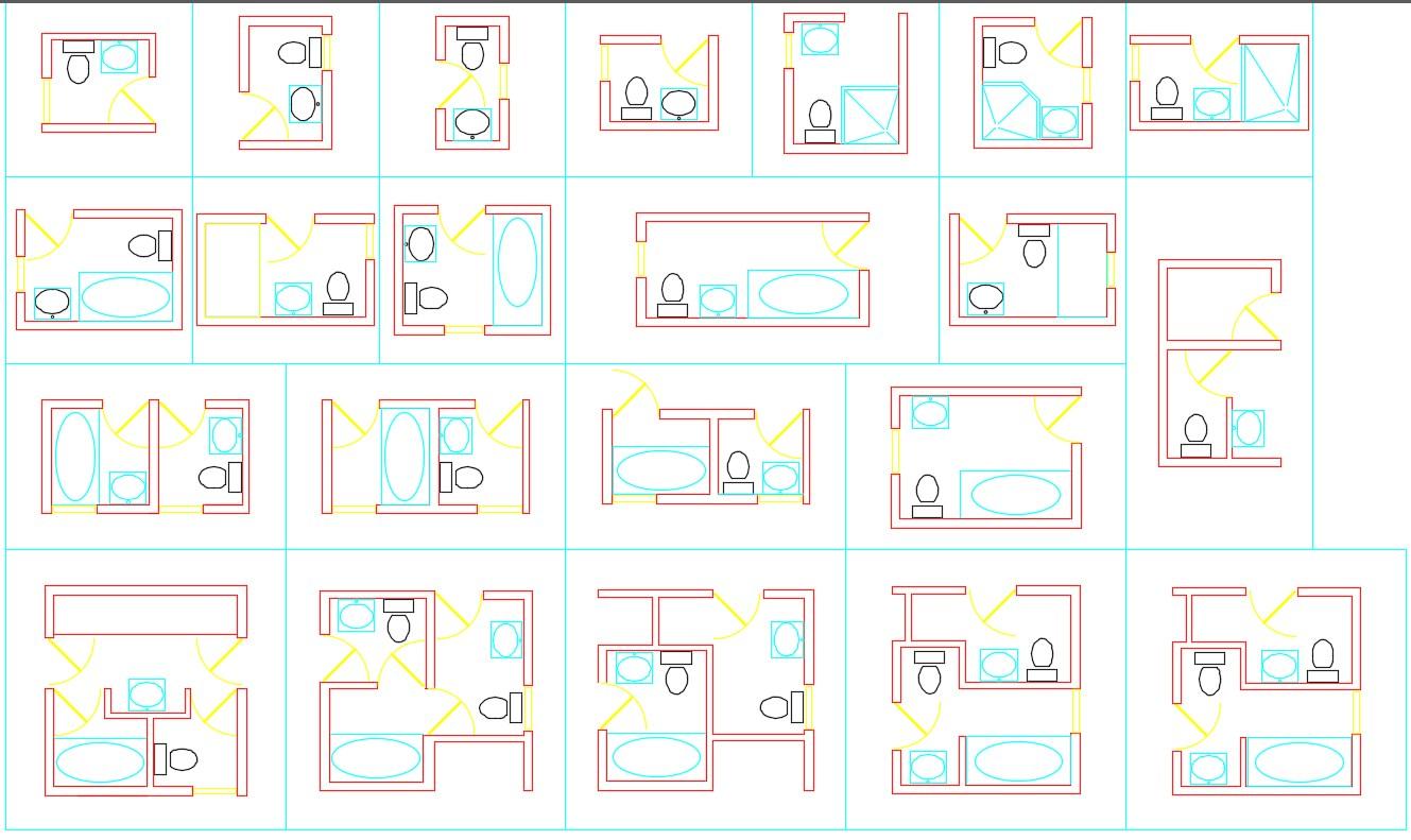 Bathroom block autocad files