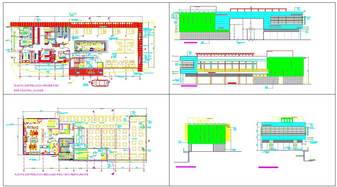 Modern Restaurant Detail plan