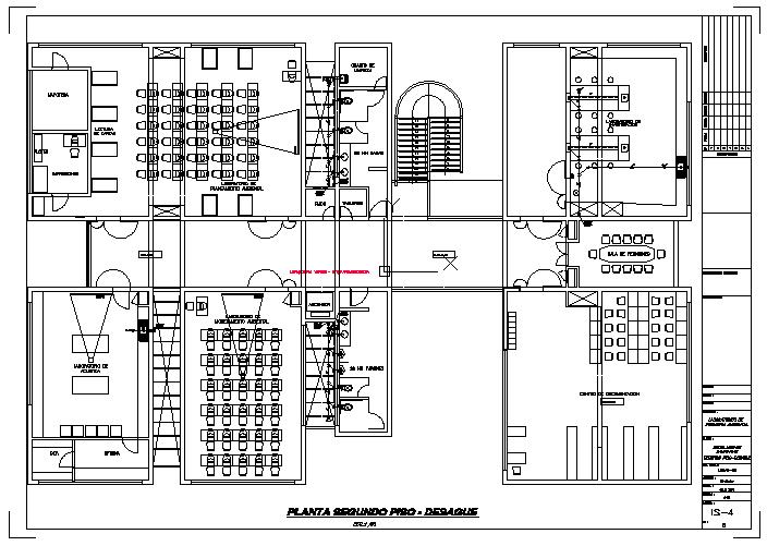 Second floor plan Environmental engineering laboratories design