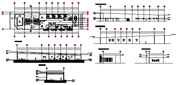Administration building design drawing