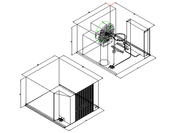 Air conditioning spare parts architecture project dwg file
