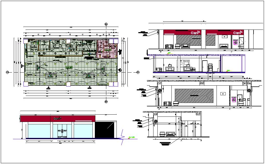 Airport plan detail view dwg file
