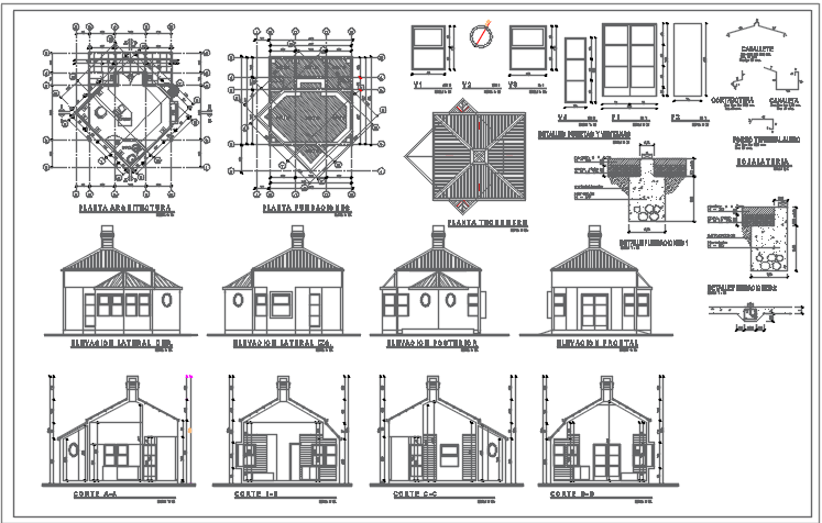 All detail plan view dwg file