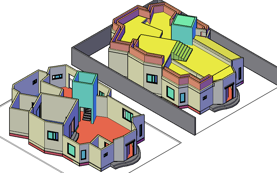 Apartment 3 D plan detail