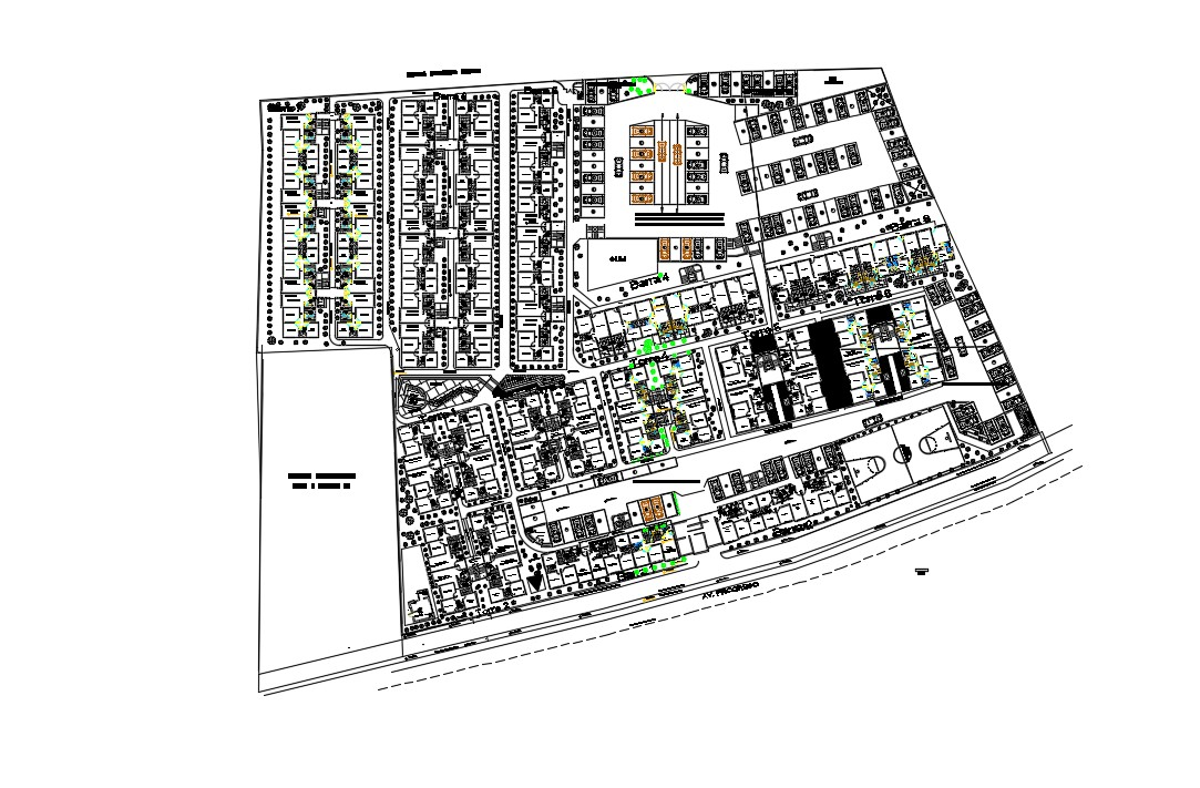 Apartment Building Plans In DWG File