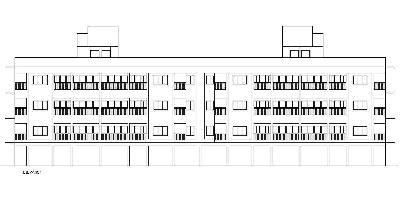 Apartment Front View Download CAD File