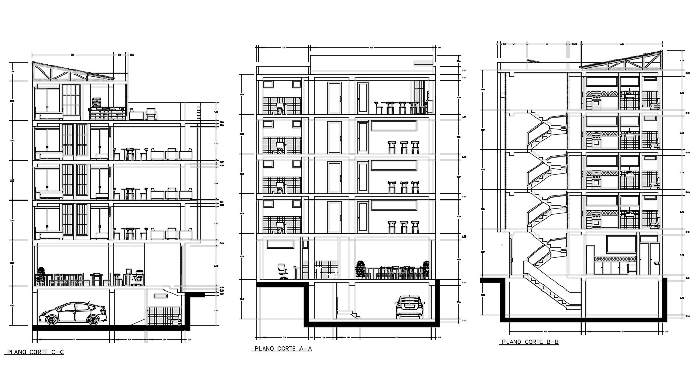 Apartment House Section Plan