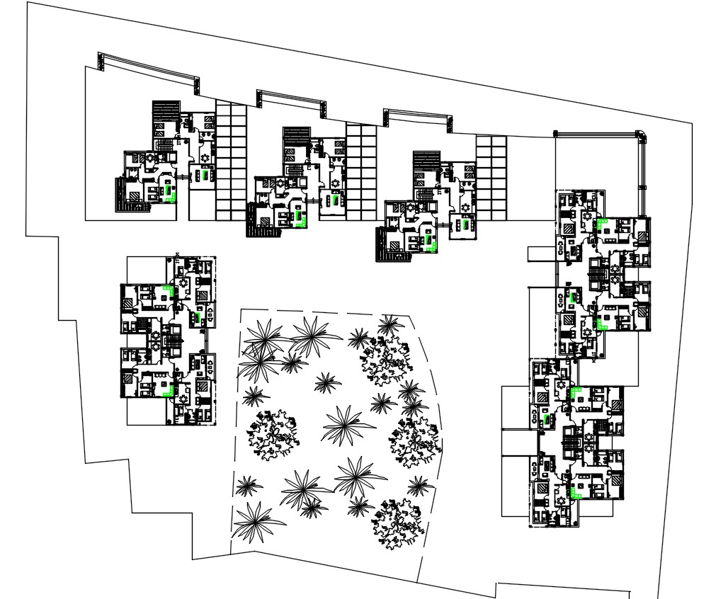 Apartment Housing Society DWG File