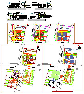 Apartment layout design drawing