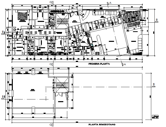 Architect planning house detail dwg file