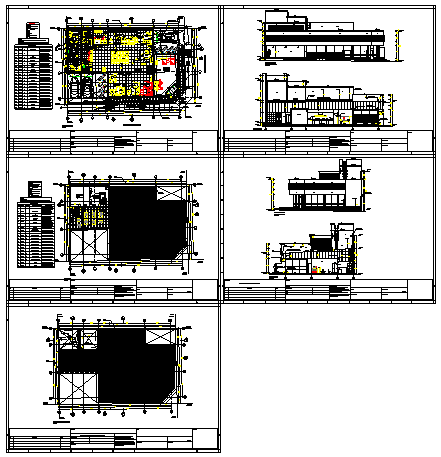 Architectural Bank design drawing