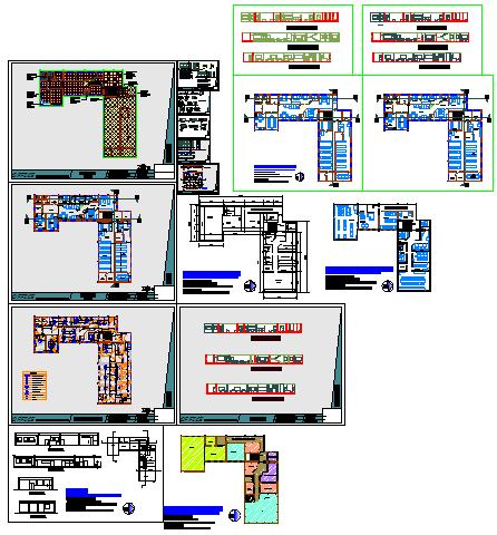Architectural College interior design drawing