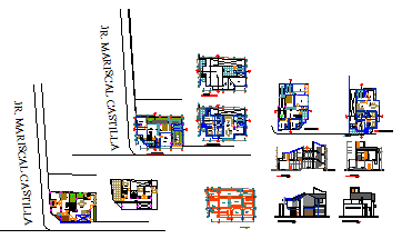Architectural housing design drawing