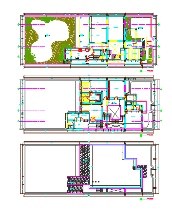 Architectural layout design drawing of single family bungalow design drawing