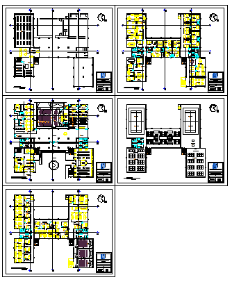 Architectural layout of court design drawing