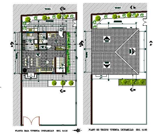 Architectural layout plan of a house dwg file
