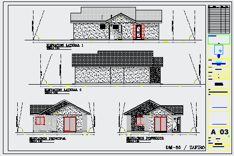 Architectural modern layout of housing design drawing