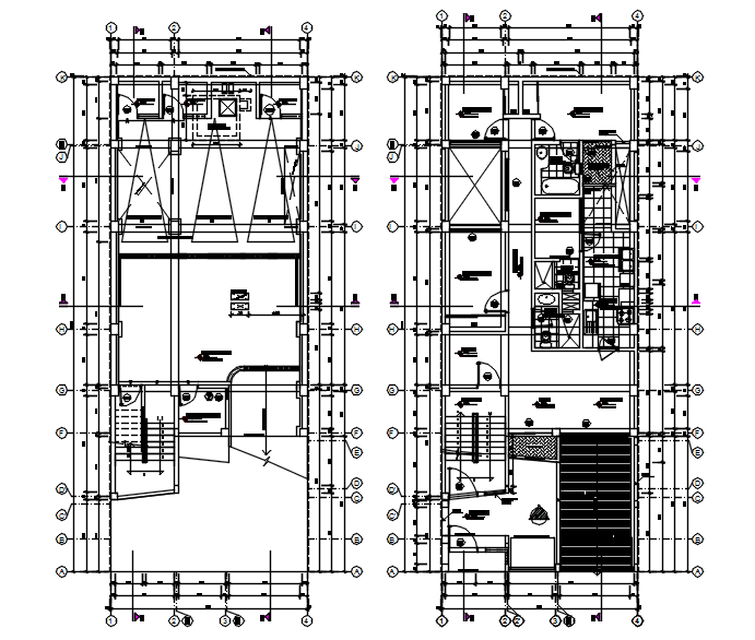 Architectural plan of apartment design in autocad