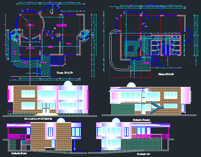 Architectural plan of office with detail dimension in dwg file