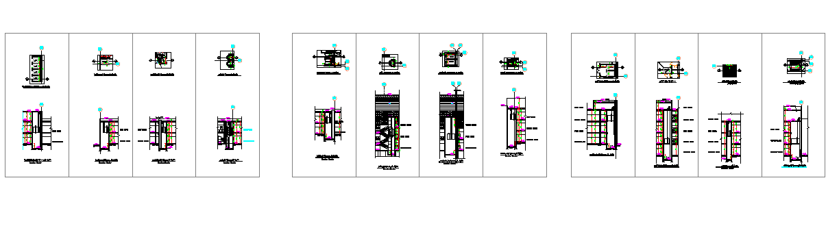 Architecture Design of Elevator of Building dwg file