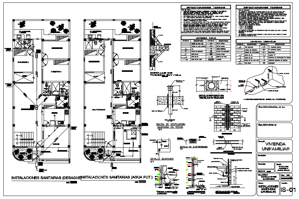 Architecture layout plan details of House floor