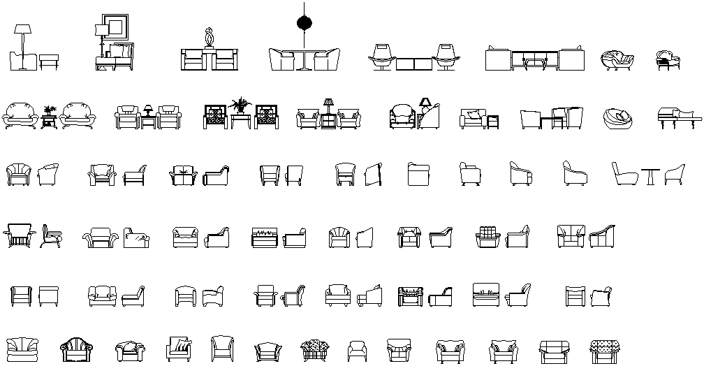 Arm Chair Drawing In DWG File