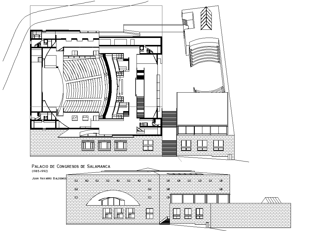 Auditorium Project dwg file
