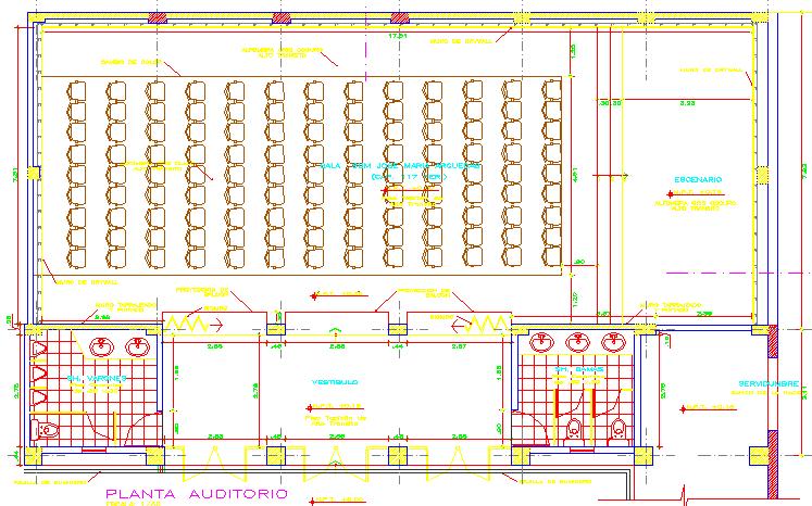Auditorium layout plan dwg file