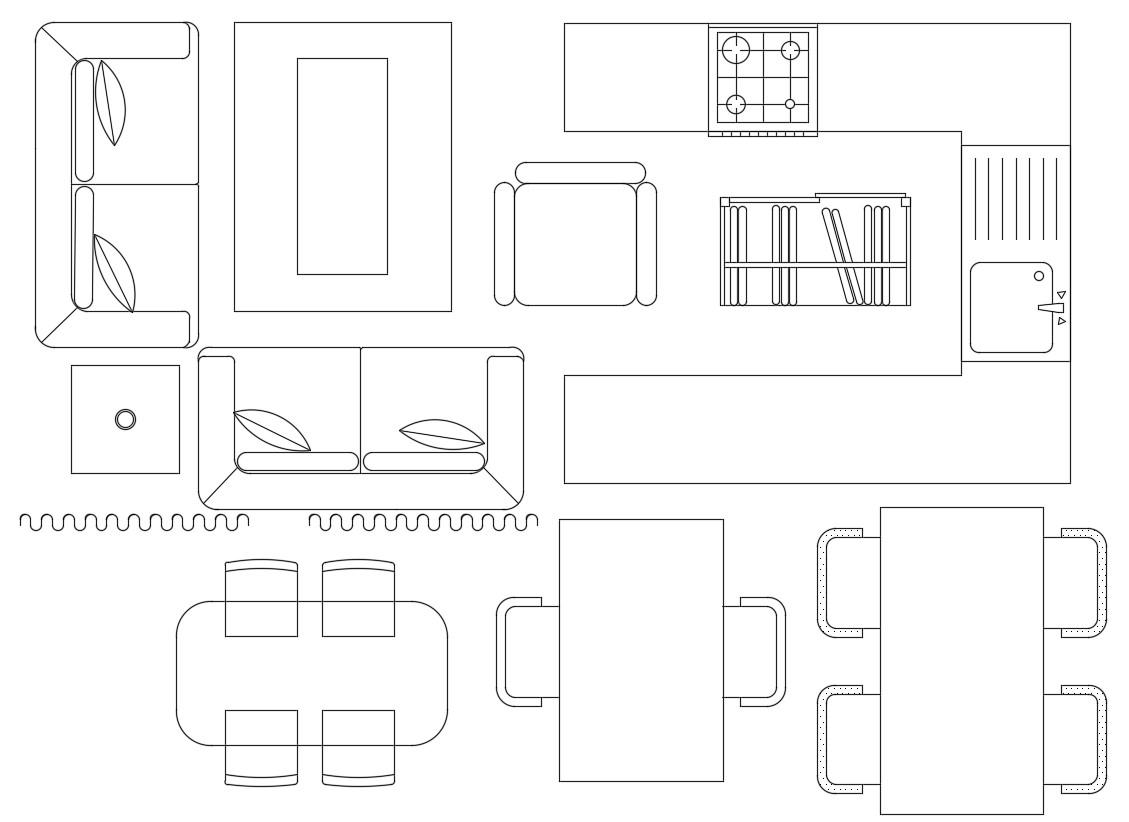 AutoCAD Furniture Blocks DWG Free Download
