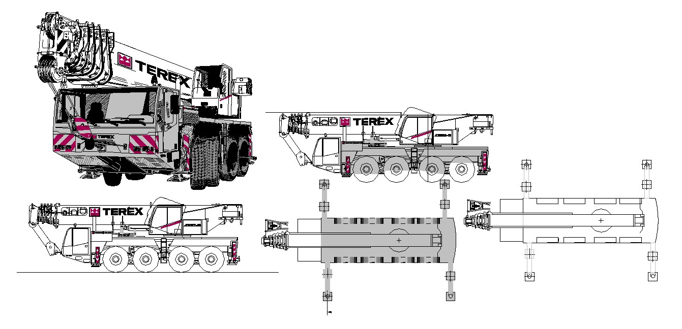 Autocad block of the truck