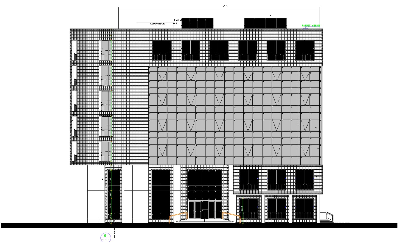 Commercial building  design in AutoCAD file