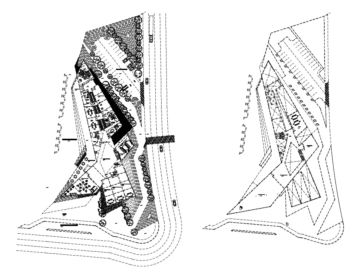 Autocad drawing of fine arts college