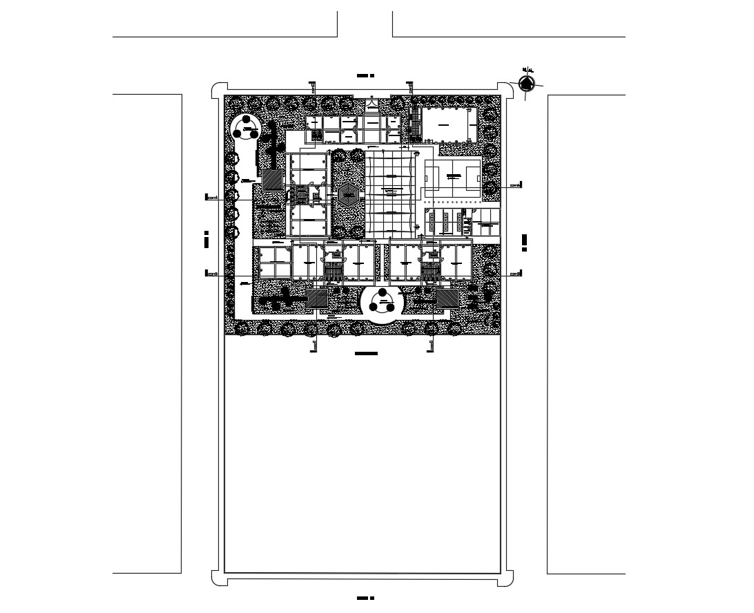 Autocad drawing of institute floor layout
