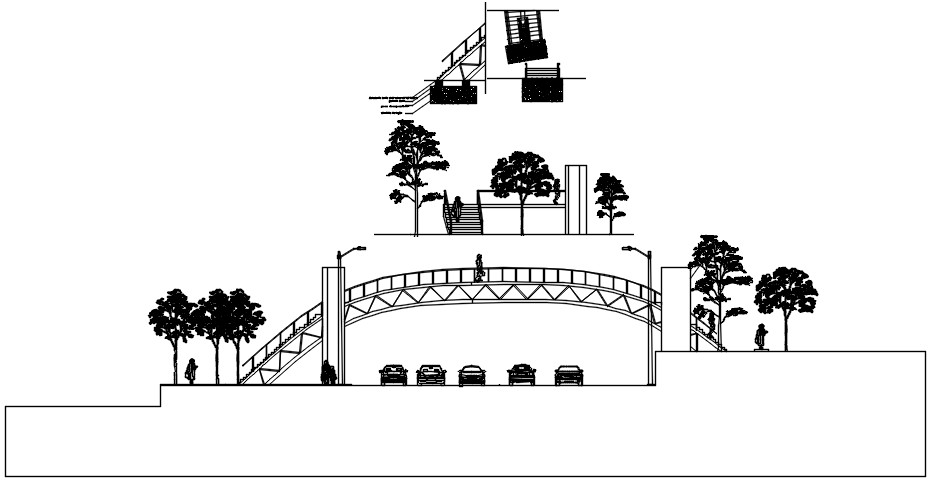 Autocad drawing of main gate design