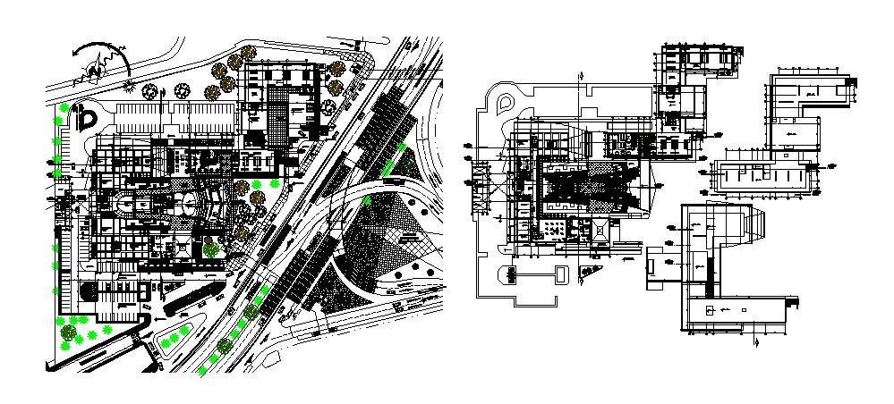 Autocad drawing of multiplex theatre