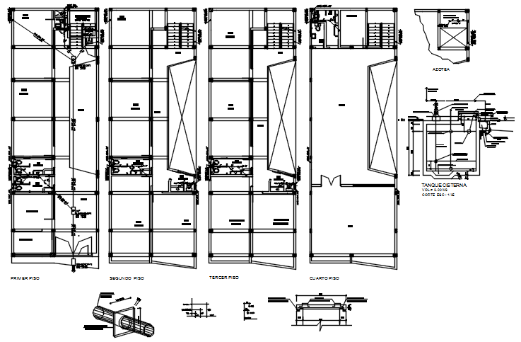 Autocad drawing of plumbing layout of college