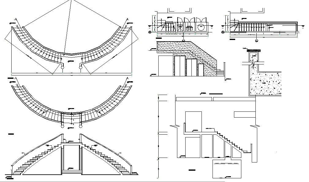 Autocad drawing of staircase design