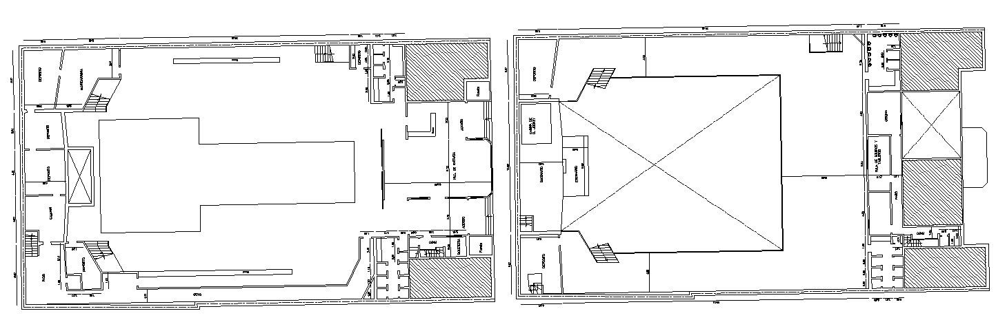 Autocad drawing of the auditorium