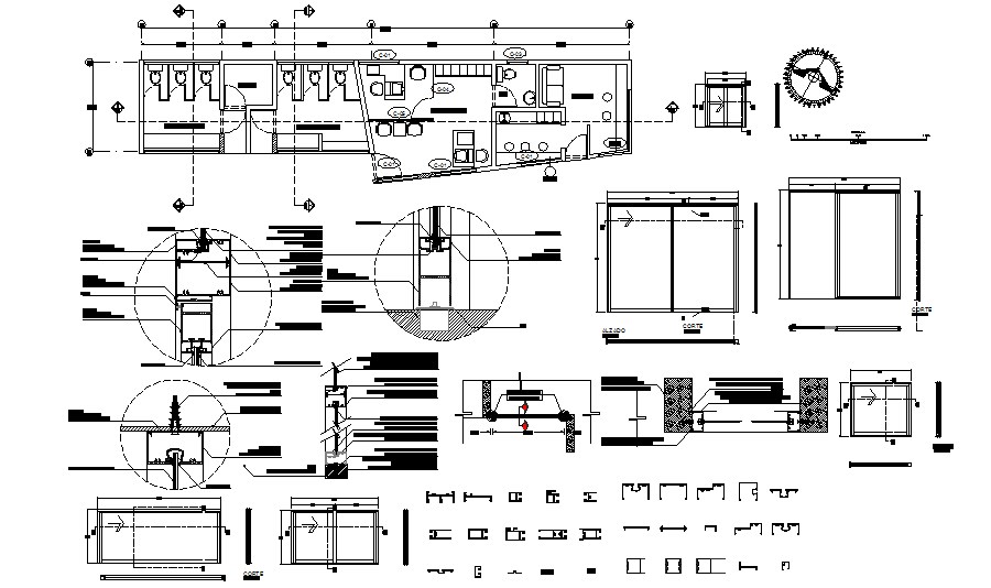 Autocad drawing of the office building with details