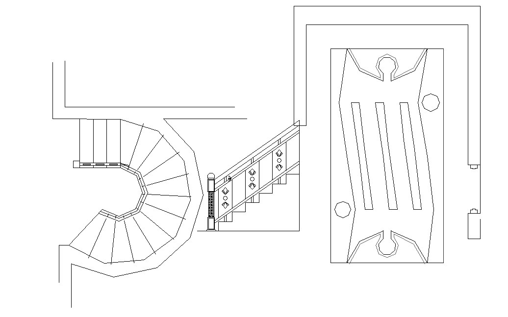 Spiral Staircase In DWG File