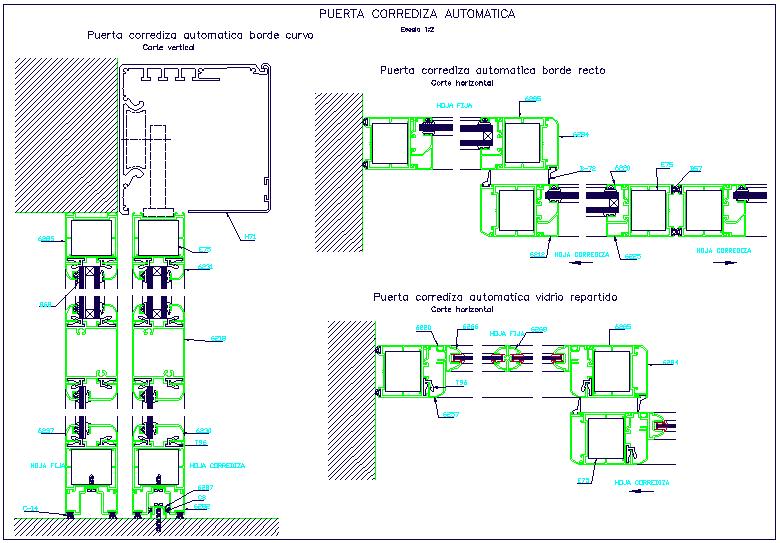 Automatic sliding door design