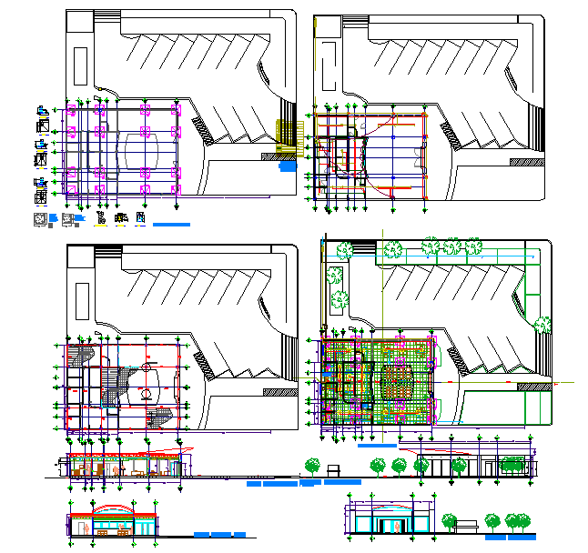 Bank Lay-out plan & Elevation detail.