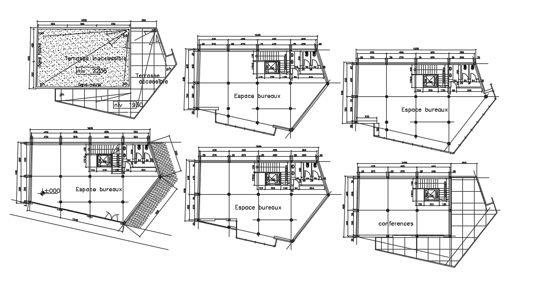 Bank layout plan detail